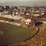 Cathkin Park in the early 1970s having been abandoned in 1967. (Source: Colin Duncan)